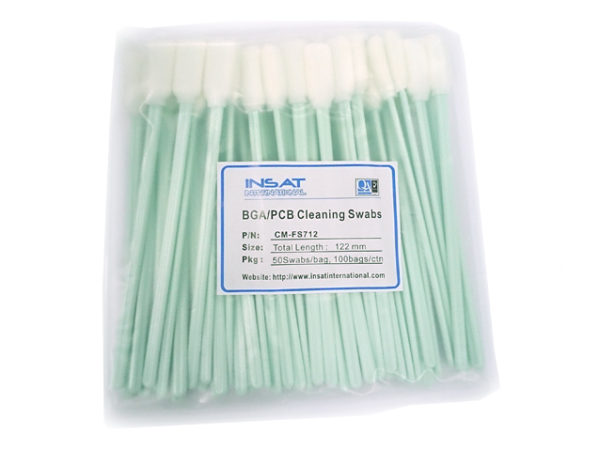 Anti-Static Foam Swabs for cleaning BGA/PCB 50 Swabs (Cleaning Swabs CM-FS712 CleanTip)-0