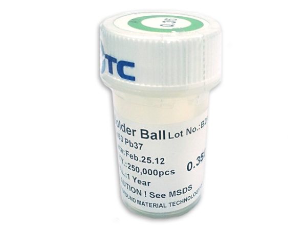 PMTC BGA Solder Balls 0.2mm to 0.76mm - Leaded Sn63Pb37-144