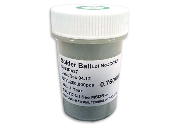 PMTC BGA Solder Balls 0.2mm to 0.76mm - Leaded Sn63Pb37-147