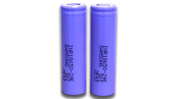 Samsung INR 18650-29E 2900mAh Rechargeable High Drain Battery FLAT TOP (x2)-0