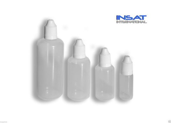 LDPE Plastic Dropper Bottle - Thin Needle Tip (E-Liquid / E-Juice) - Child Proof-0