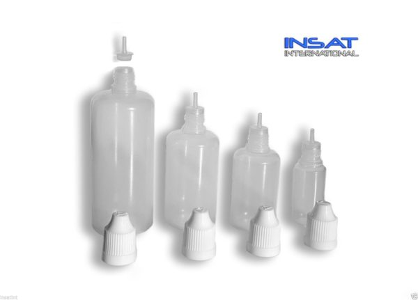 LDPE Plastic Dropper Bottle - Thin Needle Tip (E-Liquid / E-Juice) - Child Proof-301