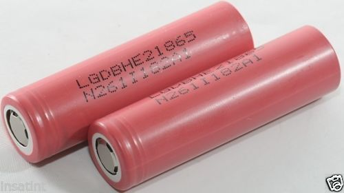 LG HE2 2500mAh 20A High Discharge Batteries in Protective Plastic Case-0