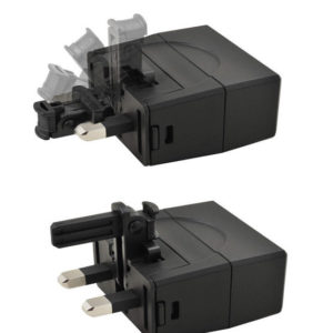 ThinPlug International Universal Travel Adapter USB Charger Set 2400mA EU/UK/US-0