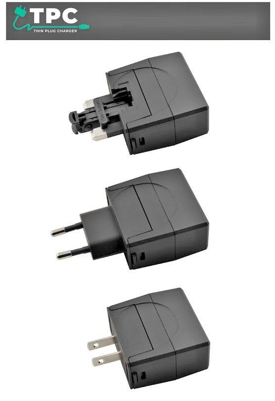 ThinPlug International Universal Travel Adapter USB Charger Set 2400mA EU/UK/US-405